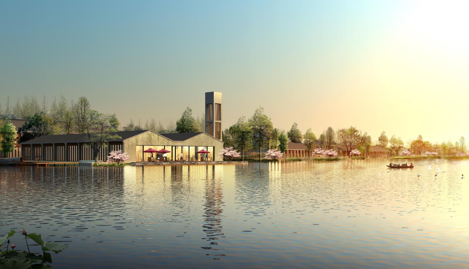 绍兴东鉴湖水乡风貌示范区总体概念规划